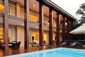 The villa Umdomi with pool